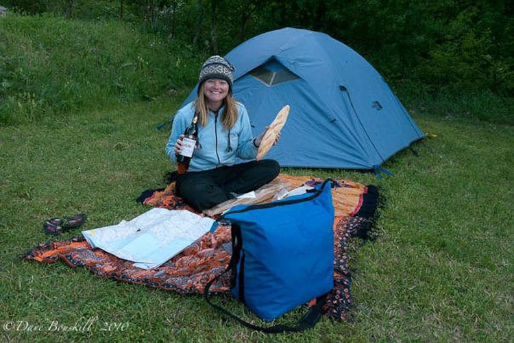 how to travel the world with no money - camping is cheap