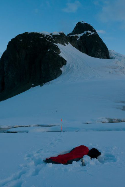 camping in antarctica mountain