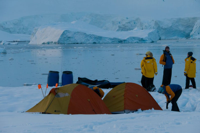 camping in antarctica group