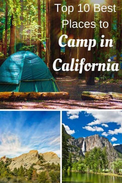 camping in california pin
