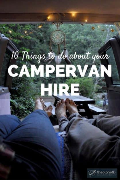 10 campervan hire tips