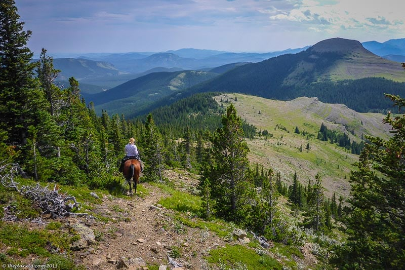 ride horses in the Rocky Mountains Canada adventures