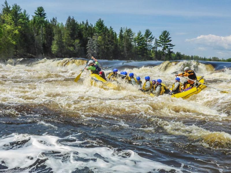 Canadian Adventures whitewater rafting the Ottawa River