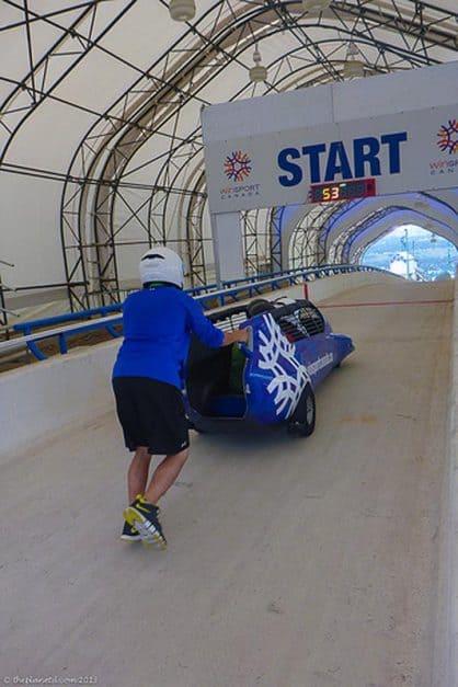 bobsleigh track canada olympic park calgary