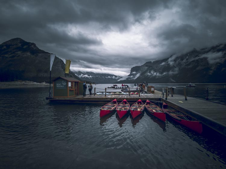 where to canoe in banff national park