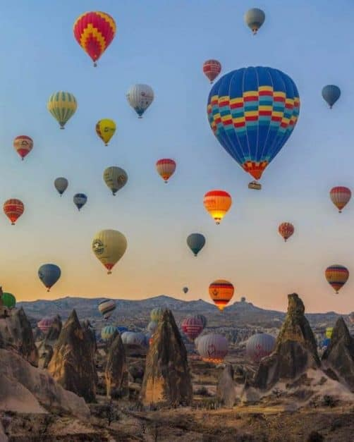 cappadocia hot air balloon with royal balloons