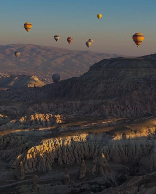 hot air balloons of cappadocia