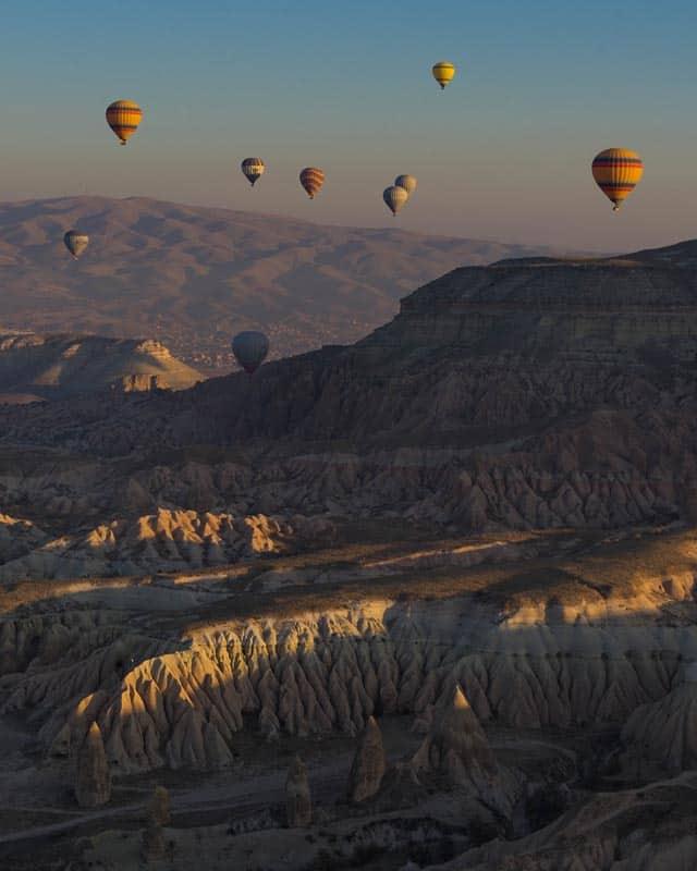 hot air balloons of cappadocia