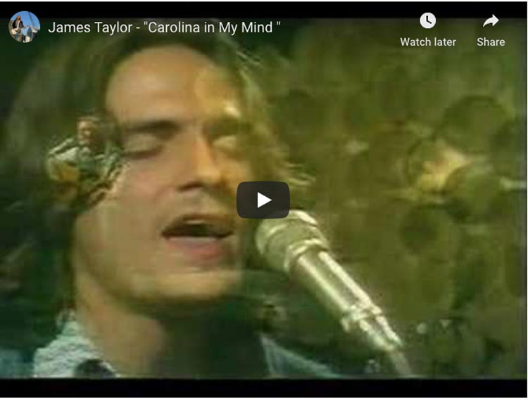 songs about travel | carolina on my mind by james taylor