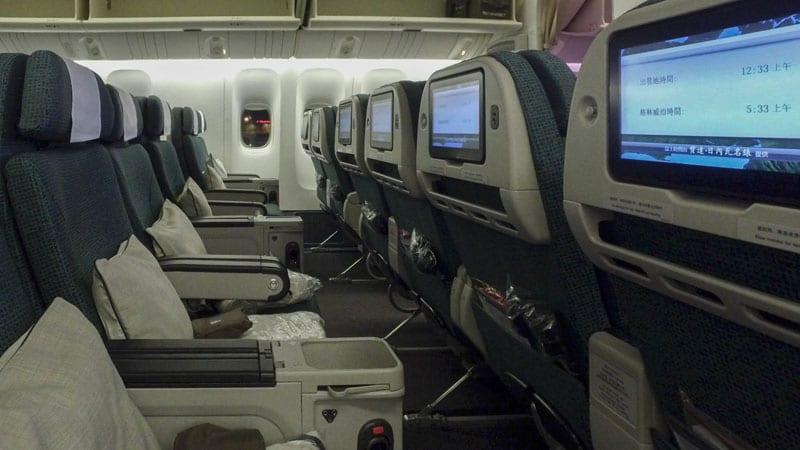 cathay pacific premium economy entertainment
