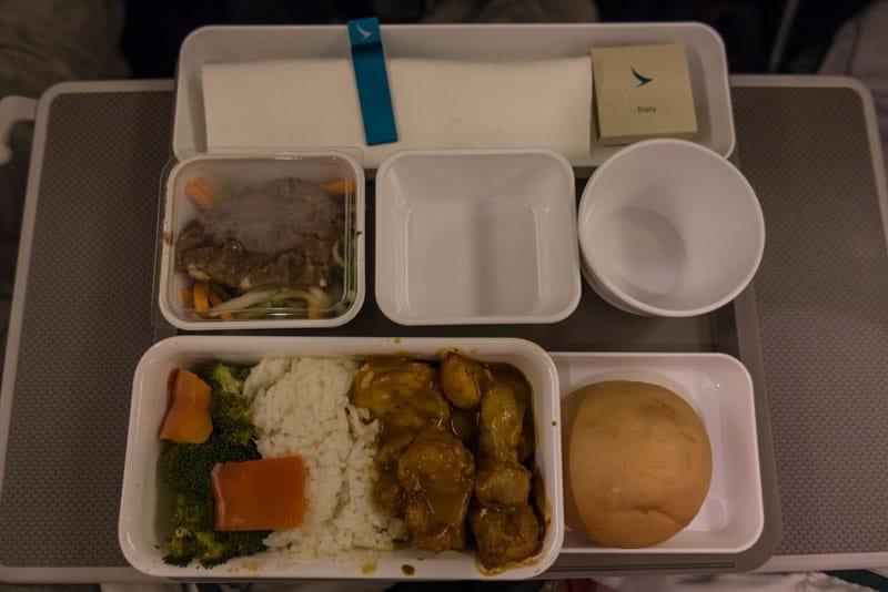 cathay pacific premium economy meal