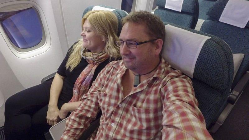 cathay pacific premium economy relaxing