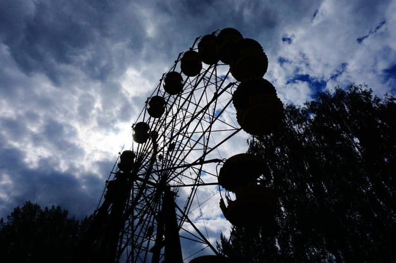 chernobyl disaster pictures ferris wheel sunset