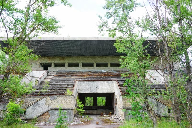 chernobyl pictures football field