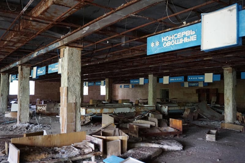 chernobyl disaster pictures grocery store