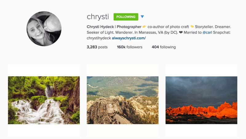 top instagram travel photography