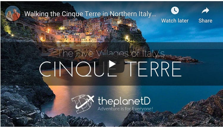 hiking cinque terre video