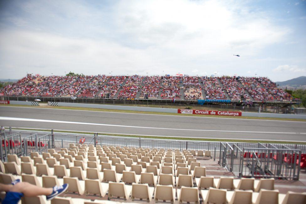 empty bleachers at F1 Race