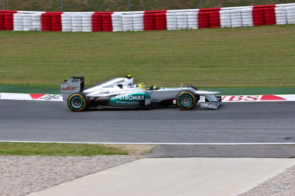 f1 race car in Spain