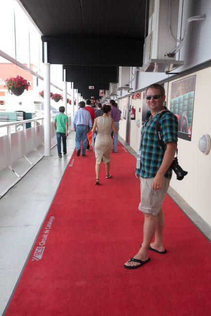 red carpet at owners box of circuit de catalunya