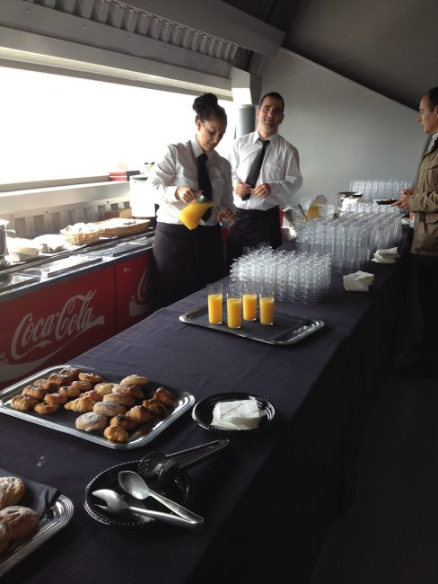 caterers at Formula one race in Spain