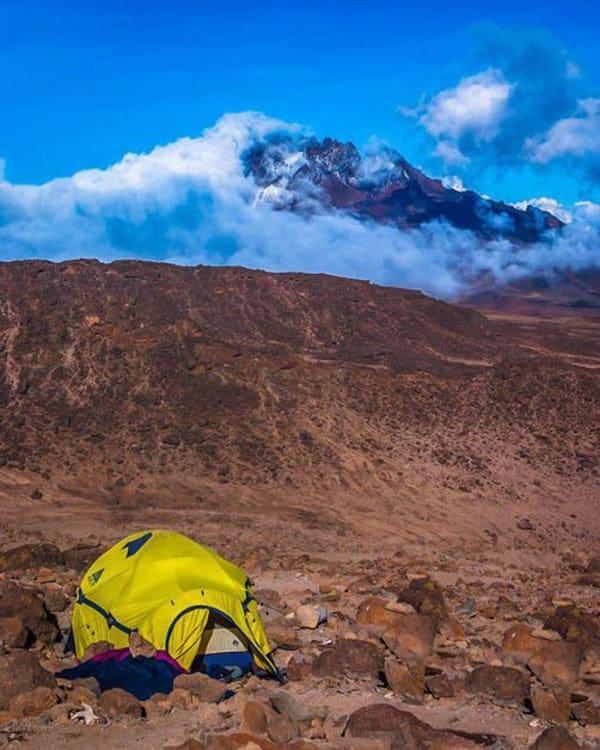 tent on mount kilimanjaro climb