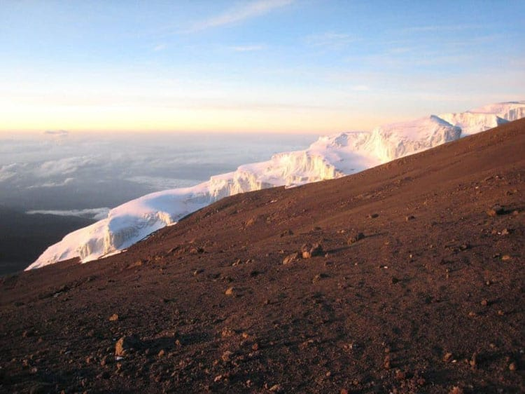 Furtwangler Glacier of mount kilimanjaro