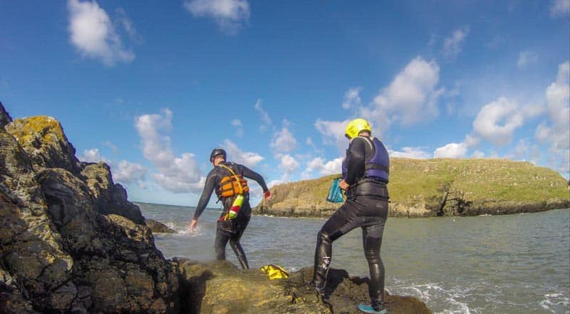 adventure holidays uk coasteering in Wales