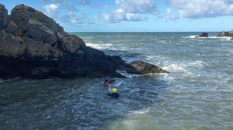 swimming to rocks in wales adventure trave