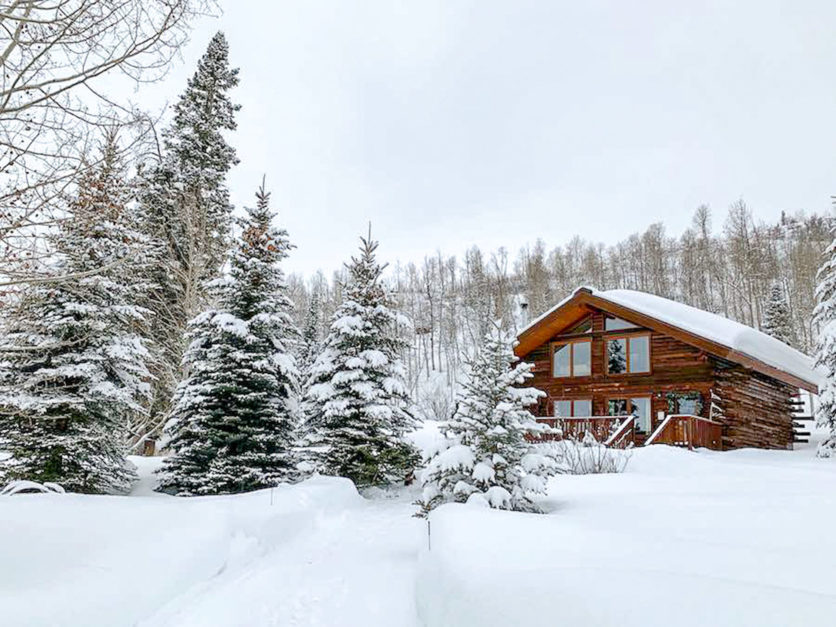 winter cabin in colorado
