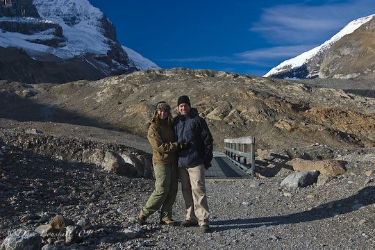 Couple at Columbia Ice Fields Alberta, Canada