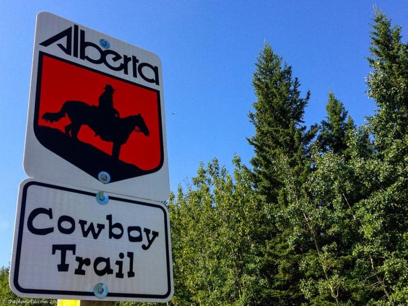 cowboy trail sign | alberta road trip