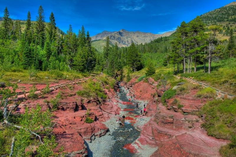 waterton lakes national park alberta   red rocks