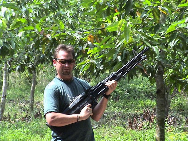 cu chi tunnels vietnam gun
