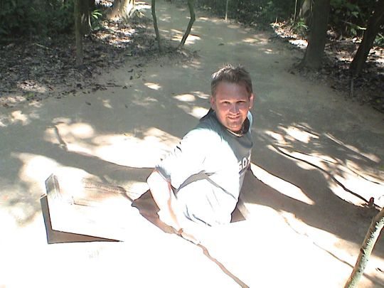 Original Entrance of Cu chi Tunnels Vietnam