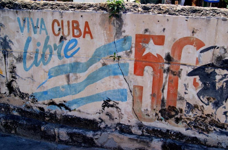 cuba unplugged viva libre sign
