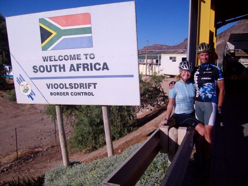 cycling africa sign