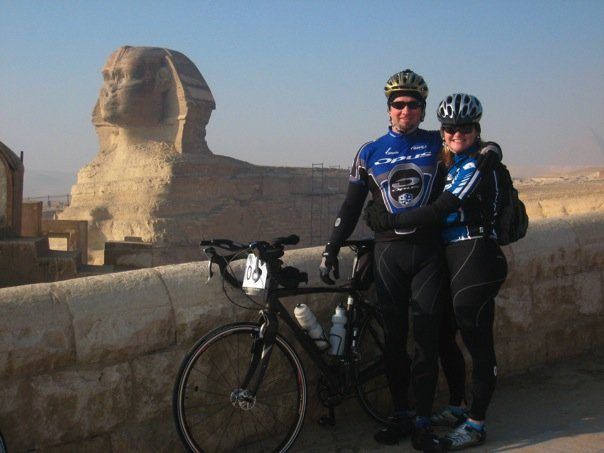 At the Start of the Tour d'Afrique in Cairo