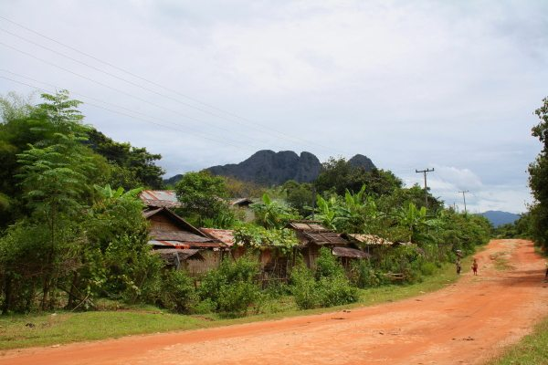 Cycling through the Countryside in Vang Vieng, Laos