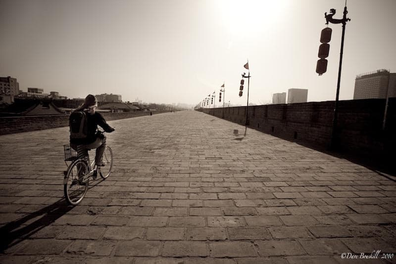 cycling the xian city wall