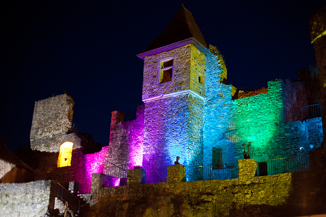 castle at party