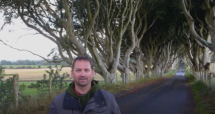 dave at the dark hedges