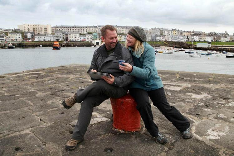 dave and deb in portrush ireland