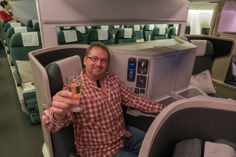 dave champagne cathay pacific business class