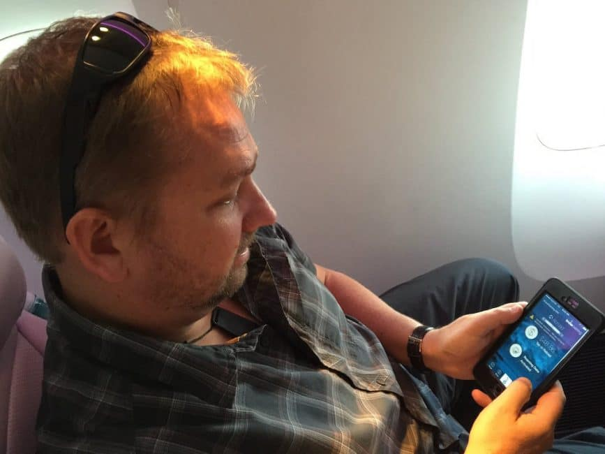 data roaming on plane