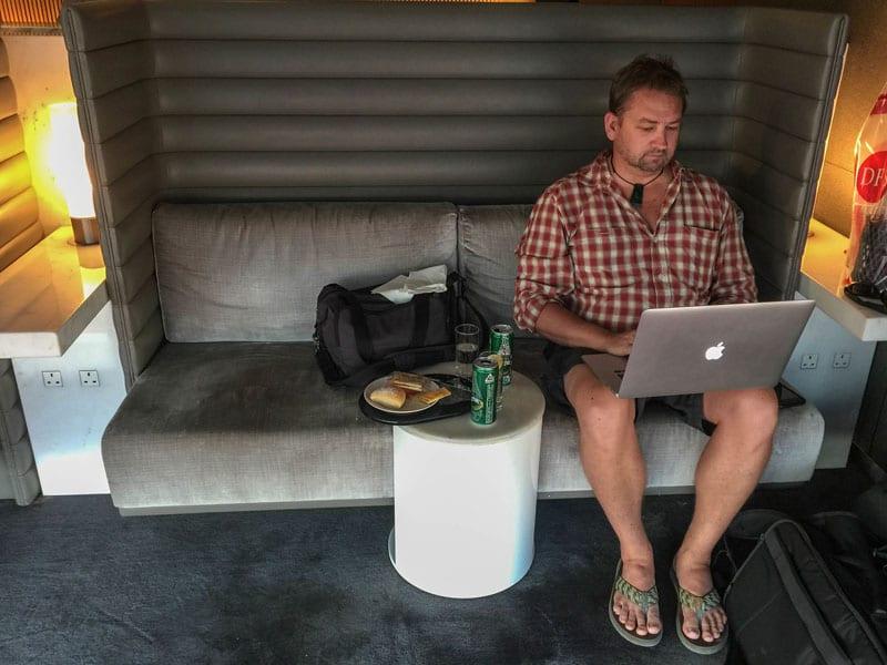 dave working lounge