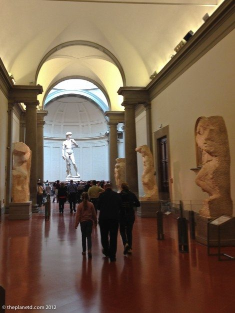 david at the The Galleria Dell Accademia Florence