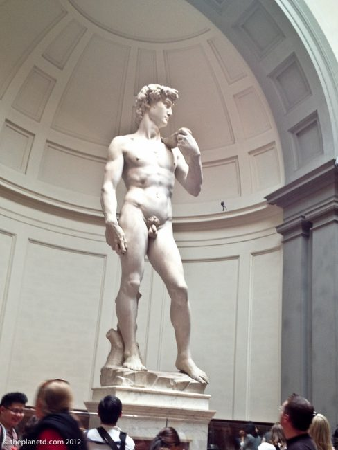statue of David in Florence at Galleria Dell Accademia