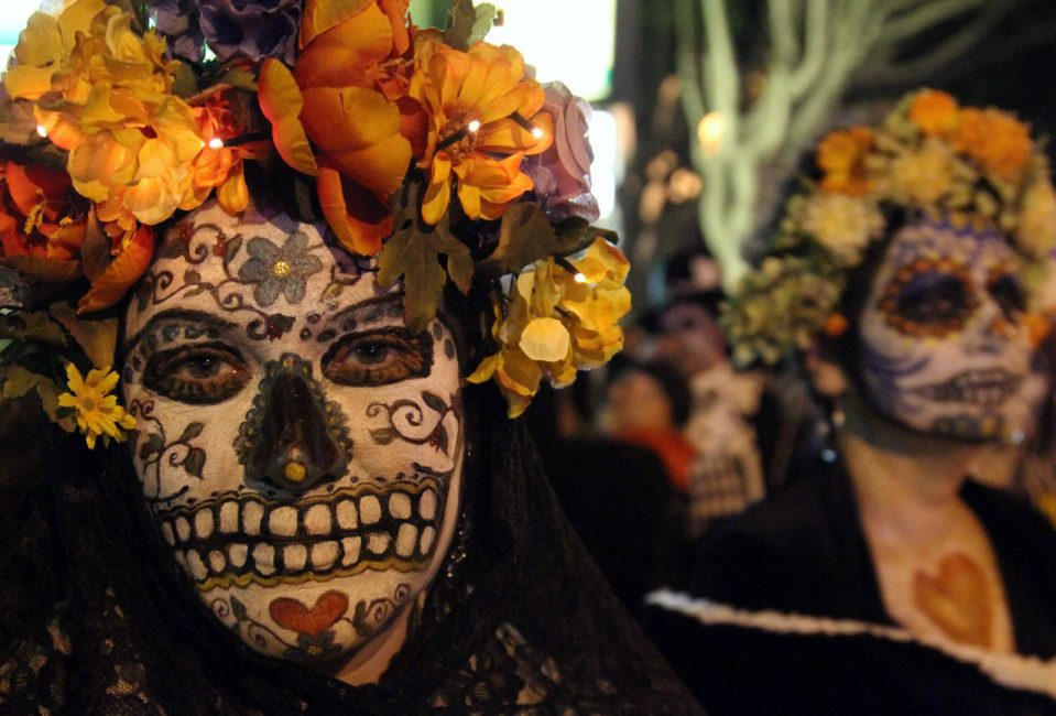 day of the dead faces in Mexico