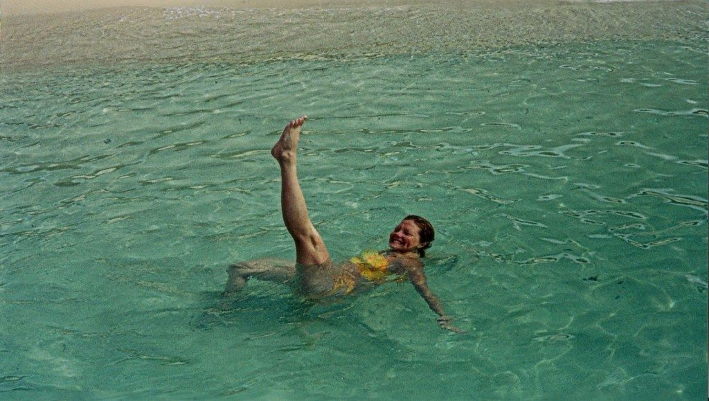 Deb Frolicking in the Clear Water